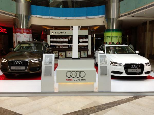 Audi A6 and Q3 Car Displays Ambience Mall