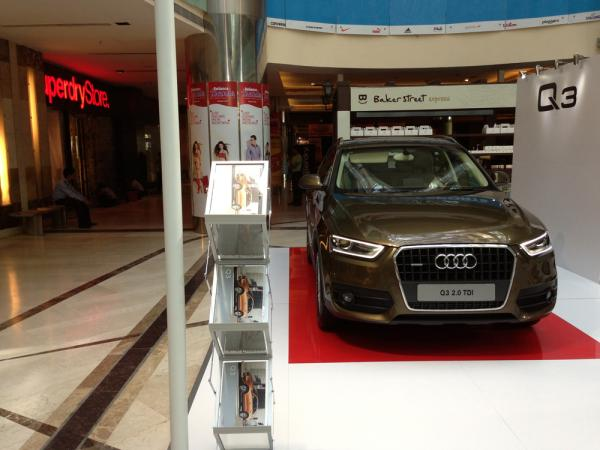 Audi Q3 Display of Ambience Mall