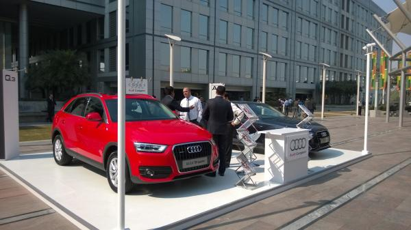 Audi Gurgaon of Car Display at DLF Cyber Hub