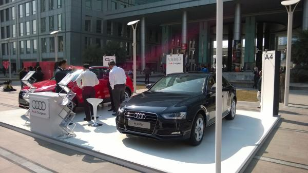 Car Display at DLF Cyber Hub 2014