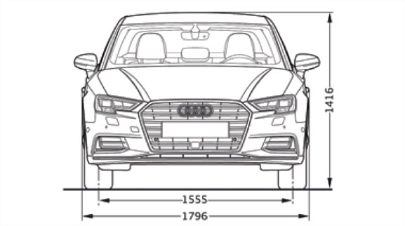 Audi A3 Dimesions Front View